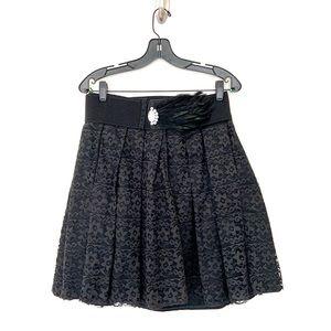 Happy Legs Vintage Black Lace Skirt